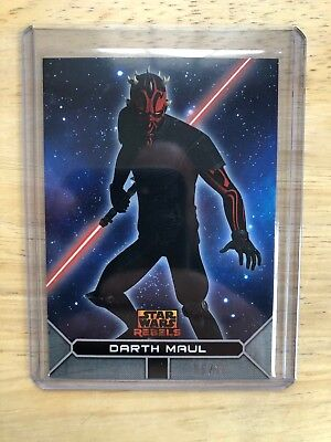 2017 Topps Star Wars Rebels On Demand SILVER Darth Maul 5/10 Parallel