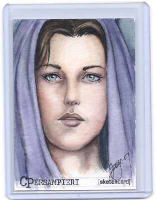 Lord Of The Rings LOTR Arwen ACEO COLOR sketch card by Connie Persampieri #1/1