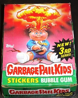1986 Garbage Pail Kids 3Rd Series Box 48 Pks  Excellent Nm Condition! Rare Gpk