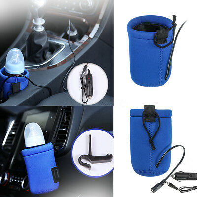 Food Milk Water Drink Bottle Cup Warmer Heater For Car Travel Baby Universal