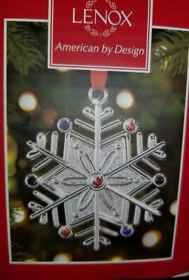 Lenox American by Design Snowflake Ornament. New