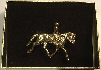 Dressage Horse Rider or Hunter Gold Like Pin