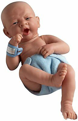 "Realistic 14"" Anatomically Correct Real Boy Baby Doll - All Vinyl ""First Yawn"""