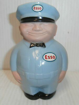 """Vintage 1950s  ESSO """"Fat Man"""" Gas Station Attendant Plastic Bank- New old stock"""