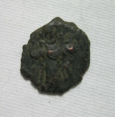 Byzantine Empire. Bronze Follis. Constans Ii, 641-668 Ad. Costantinople.