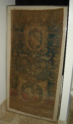 Antique French Aubusson Tapestry 18th-19th Century Large Museum Framed Rare.