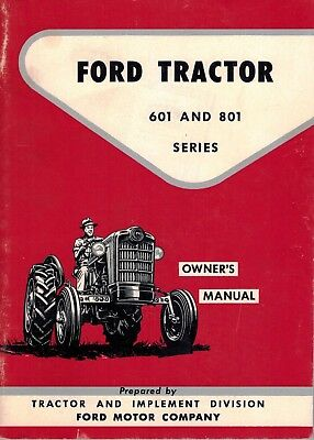 Ford 601 801 series tractor operator owners manual all purpose ford 601 801 series tractor owners manual fandeluxe Choice Image