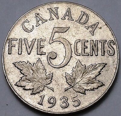 1935 Canada 5 Cents Nickel ***Great Condition*** Free Combined Shipping