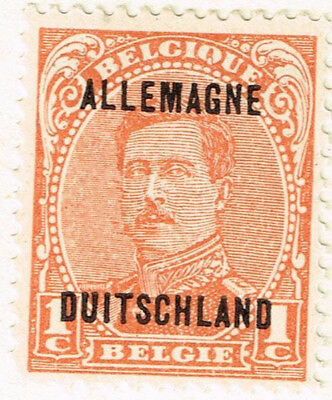 Germany WW1 Belgian Occupation classic stamp 1919 MLH