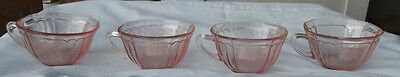 Mayfair Open Rose 8 pink cups by Hocking glass