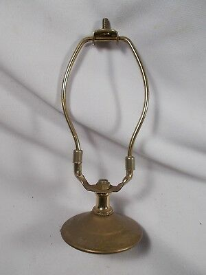 Vintage 6.5 inch Brass Plated Lamp Harp with Spacer Threaded top for Finial