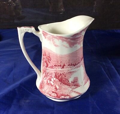 Antique Alfred Meakin Red Transfere-Ware Pitcher
