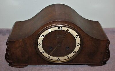 Vintage Hermle Mantle Clock Runs And Chimes Well!