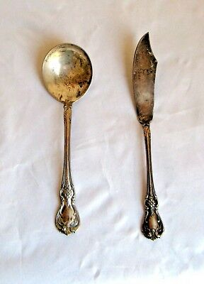 Vintage Towle Sterling Silver Spoon and Butter Knife Old Master Pattern  L1