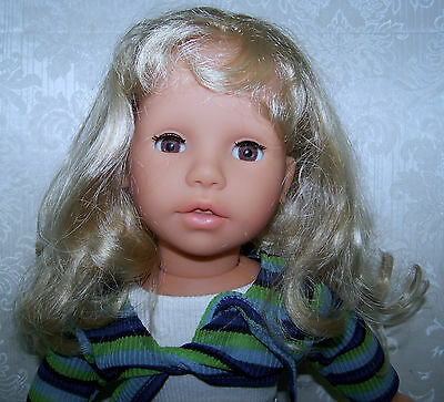 """rare 1997 ZAPF collection COLETTE 17"""" doll - all original + EXTRA OUTFIT"""