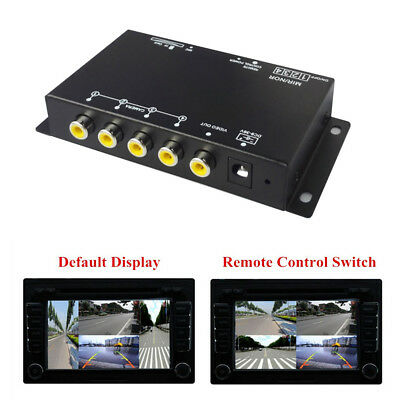 360° 4-Way Car Auto Parking View Camera VCR Image Split-Screen With Control Box