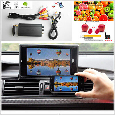 12V Home Car Android IOS TV WiFi Mirror Link Adapter Smartphone Screen Video Kit