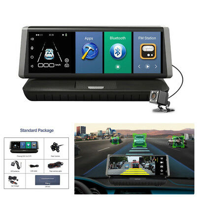 "8"" Full HD 4G Android Wifi GPS Dual Lens Car DVR Camera Video Recorder 16GB ADAS"