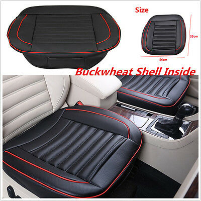 55X56cm Special Provision Leather Car SUV Seat Cover With Buckwheat Shell Inside