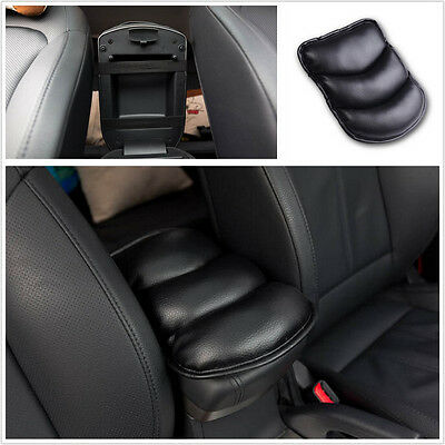 Black PU Autos Interior Center Armrest Arm Rest Support Pad For AUDI BENS BMW
