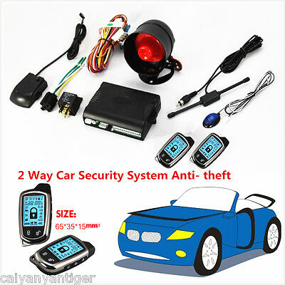 Car 2 Way Alarm System Security Anti- theft & LCD Super Long Distance Controlers