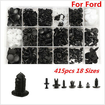 New 415pcs 18 Size Trim Clip Retainer Panel Bumper Fastener Kit Set For All Ford