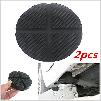 2pcs Cross Slotted Frame Rail Floor Jack Disk Pad for Pinch Weld Side JACKPAD