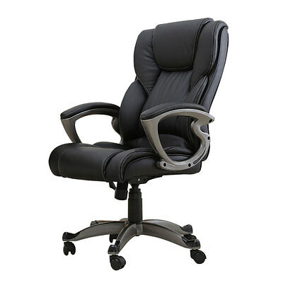 PU Leather High Back Office Chair Executive Task Ergonomic Computer Desk Swivel