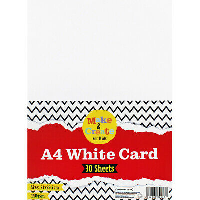 A4 White Card - 30 Sheets, Art & Craft, Brand New