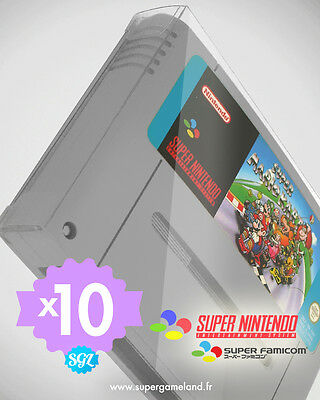 10 BOITIERS PROTECTION PROTECTIVE CASE SUPER NINTENDO SFC SNES CARTOUCHE 0,4 mm