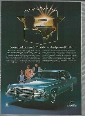 1979 CADILLAC advertisement, DIESEL Cadillac Brougham or DeVille