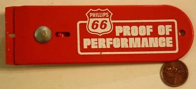 1960-70s Era Phillips 66 Gas & Oil Proof of Performance box cutter knife-UNIQUE