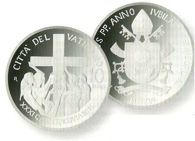 Vatican Silver Coin 2016 World Youth Day Krakow