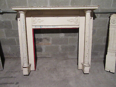 ~ Ornate Antique Chestnut Fireplace Mantel~ 59 X 49 ~ Architectural Salvage ~