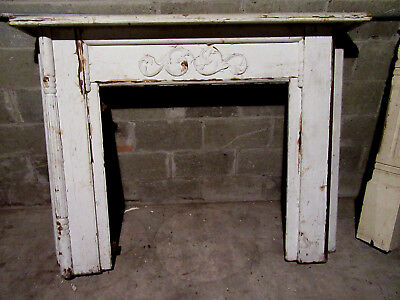 ~ ORNATE ANTIQUE OAK FIREPLACE MANTEL ~ 60 x 47 ~ ARCHITECTURAL SALVAGE ~