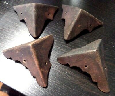 "Antique Estate Lot Of 4 Metal Angle 2.5"" Brackets Architectural Salvage!!! B115"