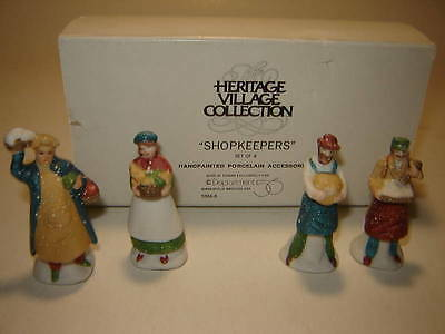 Dept 56 CIC Accessory  - Shopkeepers - 4 Pc Set - 1987
