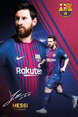 Barcelona FC Messi Collage 17-18 BFC Poster 61x91.5cm