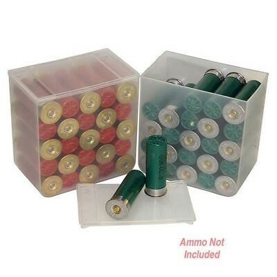MTM SS2500 Clear Shotshell Ammo Box 25 Round 4 Pack