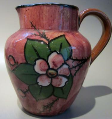 Devon Torquay Art Pottery Ware Hand Painted Pink Jug