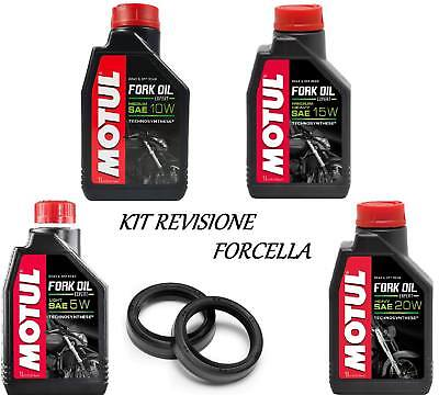 090 Motul kit olio + paraoli forcella Derbi SENDA SM DRD RACING E2 2005-2008