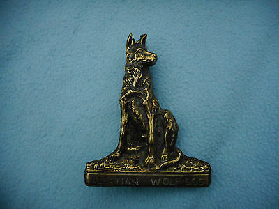 Antique Bronze Australian Wolf Dog Door Knocker