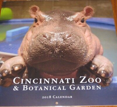 NEW Cincinnati 2018 Zoo Baby Hippo Fiona Wall Calendar New package Collectible