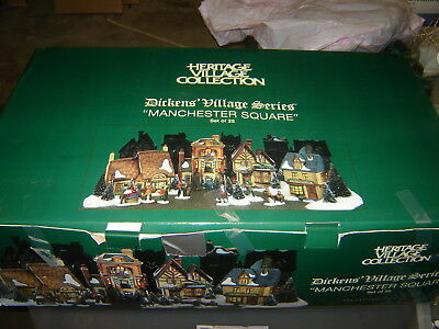 Dept 56 Dickens Village - Manchester Square - 25 Pc Set
