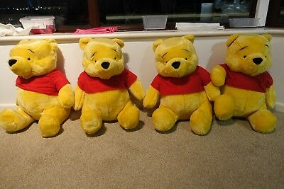 4 PIECES LARGE POOH BEARs 19in