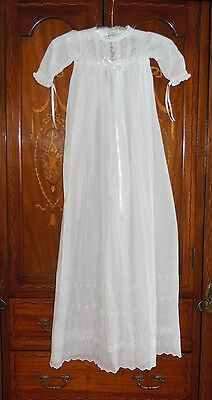 Magnificent Heirloom 1920 Antique Christening Gown Made in United Kingdom Wow!!!