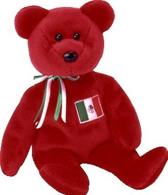 TY Beanie Baby OSITO the Mexico TEDDY BEAR US Excl Ret MWMT Plush Bean Bag Toy!