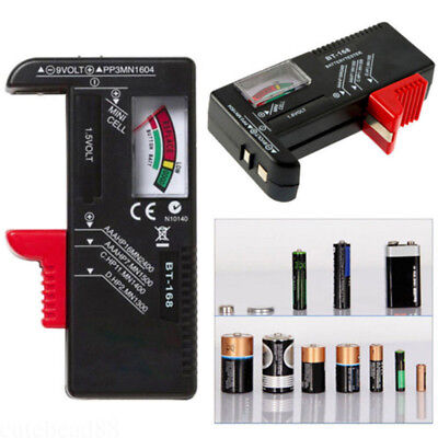 1pc New Universal AA AAA C D 9V Battery Tester Tool Button Checker Accessory