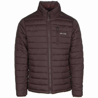 $250 Mens Gyde Battery Powered By Gerbing Heated Calor Jacket Puffer Coat Purple