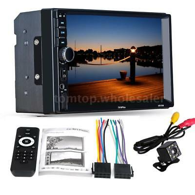 7in 2 Din Touch Screen Auto Radio Stereo Media Player Car MP5 Player with Camera
